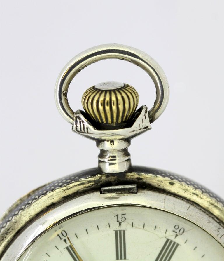 Omega, Gurzelen Silver Nielo Pocketwatch Russian Retailer, Switzerland, 1895 2