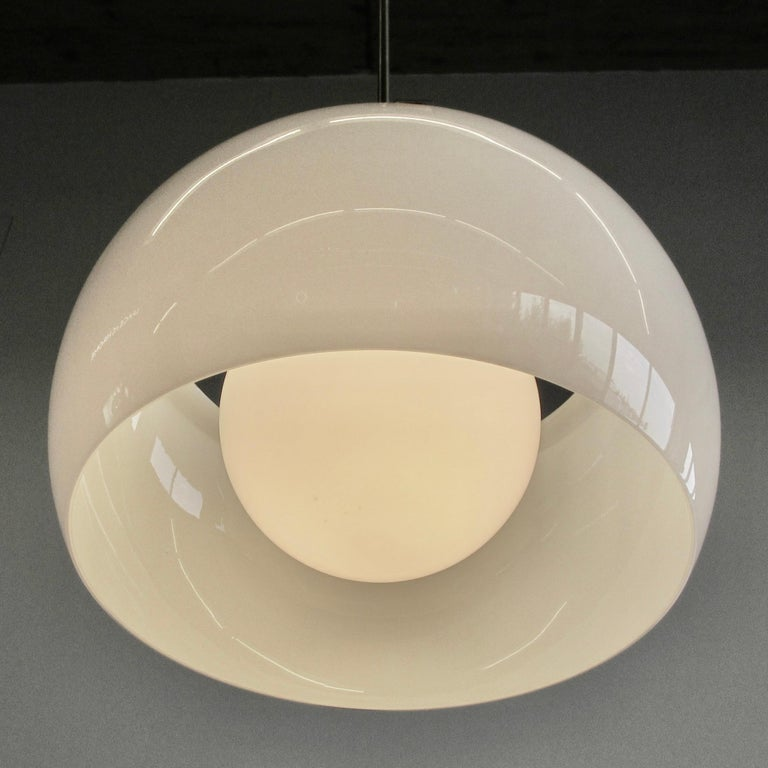 Modern Omega Hanging Lamp by Vico Magistretti, 1962
