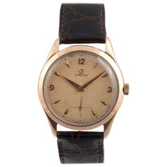 OMEGA Honeycomb Dial 18 Karat Rose Gold Wristwatch