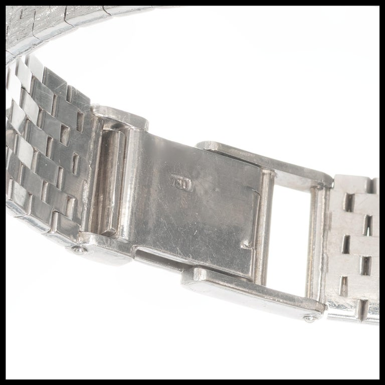 Omega Ladies Diamond Bezel White Gold Wristwatch In Good Condition For Sale In Stamford, CT