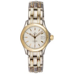 Omega Ladies Two-Tone 18 Karat Yellow Gold and Steel Seamaster Quartz Watch