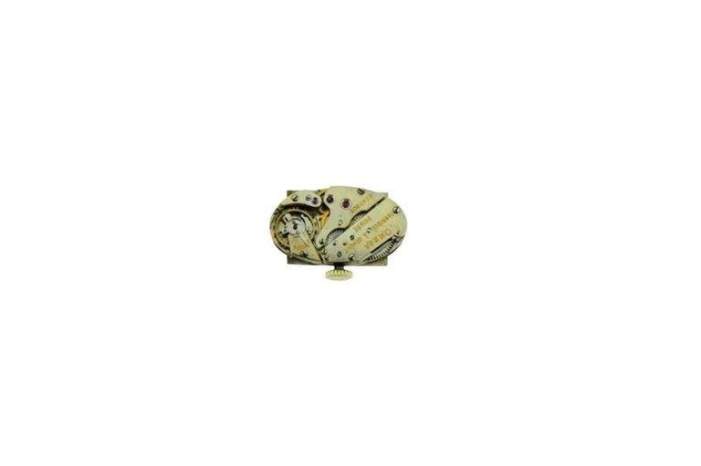 Omega Ladies White Gold Sapphire Diamond Art Deco Watch, circa 1930s For Sale 3
