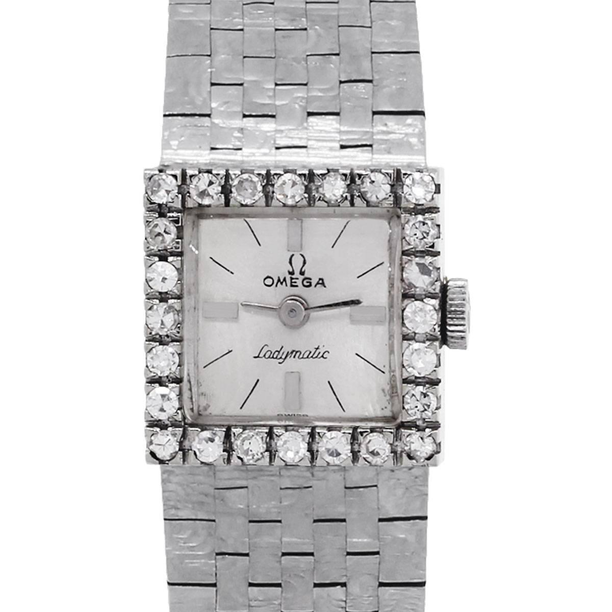 Omega Ladymatic Diamond Bezel Ladies Watch