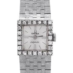 Omega Ladymatic Diamond Bezel Ladies Watch