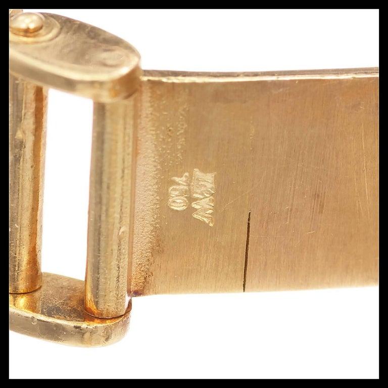 Women's Omega Ladies Diamond Yellow Gold Bracelet Wristwatch For Sale