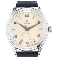 Omega Men's Stainless Steel Manual Wind Wristwatch