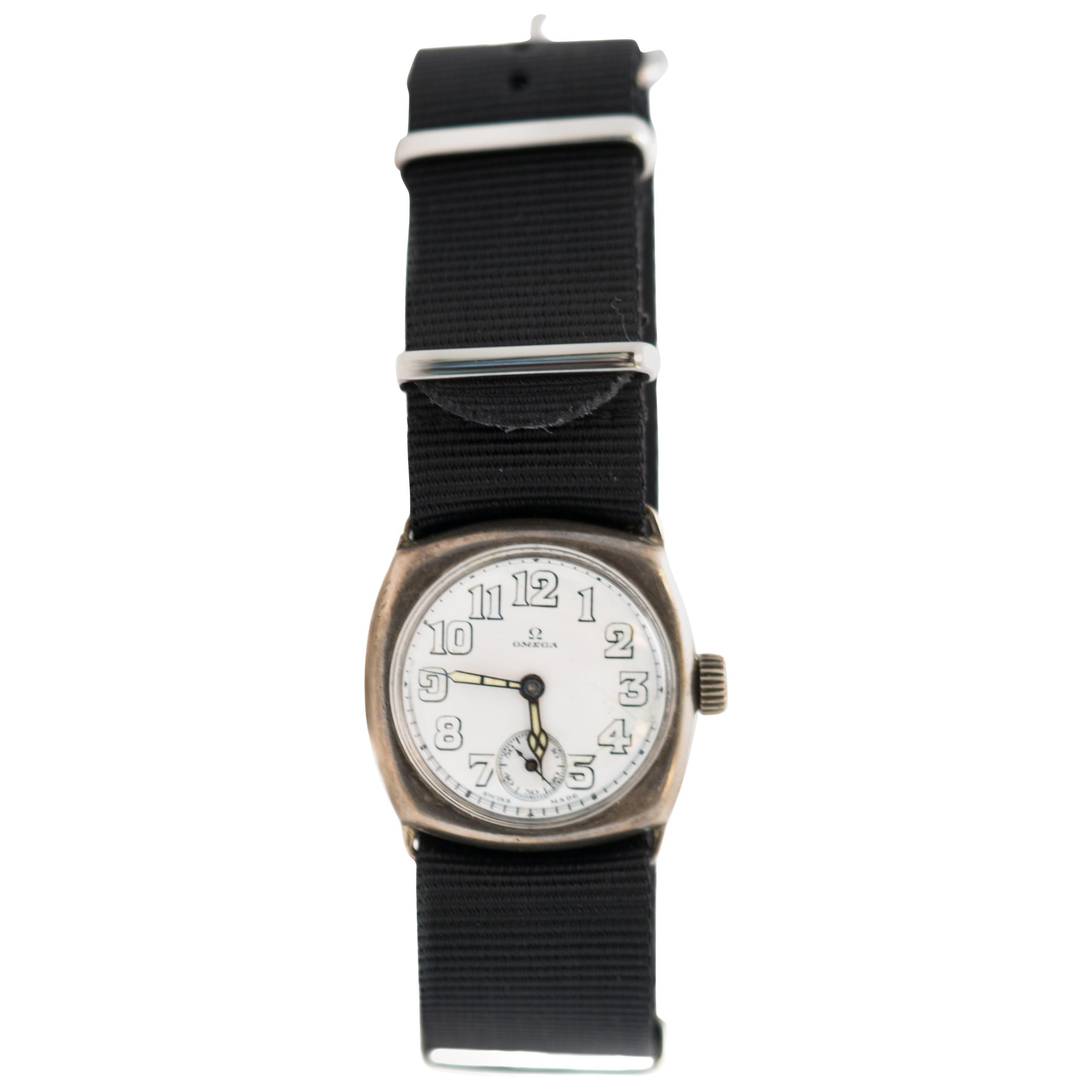 Omega Military Manual Wind Wristwatch, 1920s