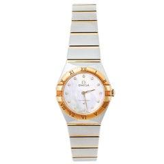 Omega MOP 18K Yellow Gold & Diamond Constellation Women's Wristwatch 25 mm