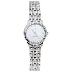 Omega Mother Of Pearl Stainless Steel De Ville Women's Wristwatch 27.40 mm