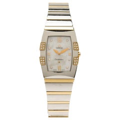 Omega Mother of Pearl Stainless Steel Quadrella Women's Wristwatch 26MM