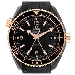 Omega Planet Ocean Deep Black Ceramic GMT Watch 215.63.46.22.01.001 Unworn
