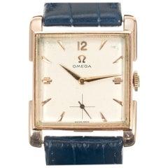 Omega Rose Gold 1940s Men's Wristwatch