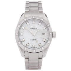 Omega Seamaster 0 25647500 Ladies Stainless Steel Watch