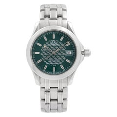 Omega Seamaster 120 Jacques Mayol Steel Green Dial Quartz Men's Watch 2506.70.00