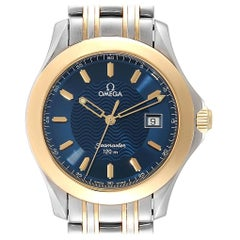 Omega Seamaster 120M Steel Yellow Gold Blue Dial Quarz Watch 2311.81.00
