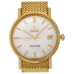 Omega Seamaster 14743 SC-62 18 Karat Yellow Gold Champagne Dial Automatic Watch