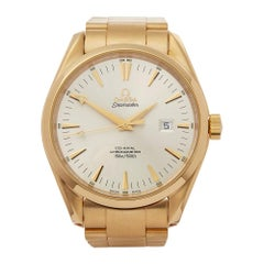 Omega Seamaster 18 Karat Yellow Gold 21043000 Wristwatch