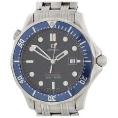 Omega Seamaster 2221.80.00, Blue Dial, Certified and Warranty