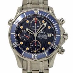 Omega Seamaster 2225.80.00 aus Rostfreiem Stahl Blau Automatik Garantie #389-1