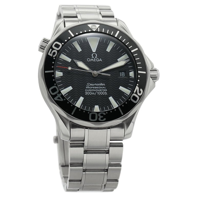 Omega Seamaster 2254.50.00, Black Dial, Certified and Warranty For Sale