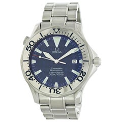 Omega Seamaster 2255.80.00 with Band, Stainless-Steel Bezel and Blue Dial