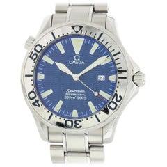 Omega Seamaster 2265.80.00 mit Armband und Blaues Zifferblatt Zertifiziert aus Vorbesitz