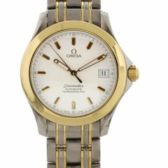 Omega Seamaster 2311.21.00 with Band, Yellow-Gold Bezel and White Dial