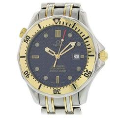 Omega Seamaster 2342.80.00 mit Armband und Blaues Zifferblatt Zertifiziert aus Vorbesitz