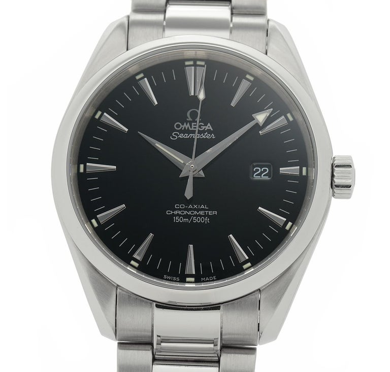 Contemporary Omega Seamaster 2502.50.00, Black Dial, Certified and Warranty For Sale