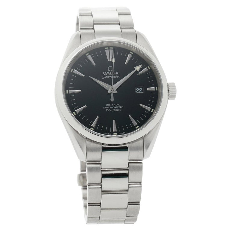 Omega Seamaster 2502.50.00, Black Dial, Certified and Warranty For Sale