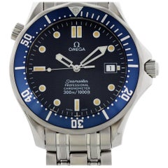 Omega Seamaster 2531.80.00, Blue Dial, Certified and Warranty