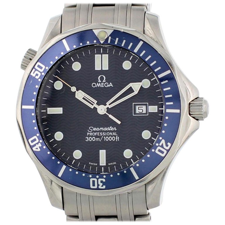 Omega Seamaster 2541.80.00, Black Dial, Certified and Warranty For Sale