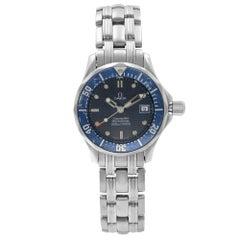 Omega Seamaster Diver Steel Blue Dial Quartz Ladies Watch 2224.80.00