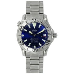 Omega Seamaster 300 Chronometer Blue Dial Stainless Steel Watch