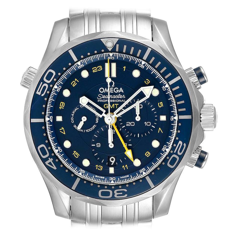 Omega Seamaster 300 GMT Chronograph Watch 212.30.44.52.03.001 Box Card