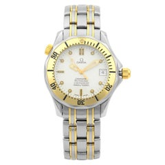 Omega Seamaster 300M Gold Steel White Dial Automatic Men's Watch 236.22.000