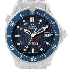 Omega Seamaster 300m Dual Time Zone Men's Watch 2535.80.00 Box Cards