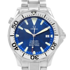 Omega Seamaster 300M Electric Blue Dial Steel Men's Watch 2255.80.00