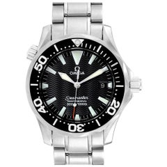 Omega Seamaster 36 Midsize Black Dial Steel Watch 2252.50.00 Box