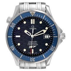 Omega Seamaster 40 Years James Bond Blue Dial Watch 2537.80.00 Box Card
