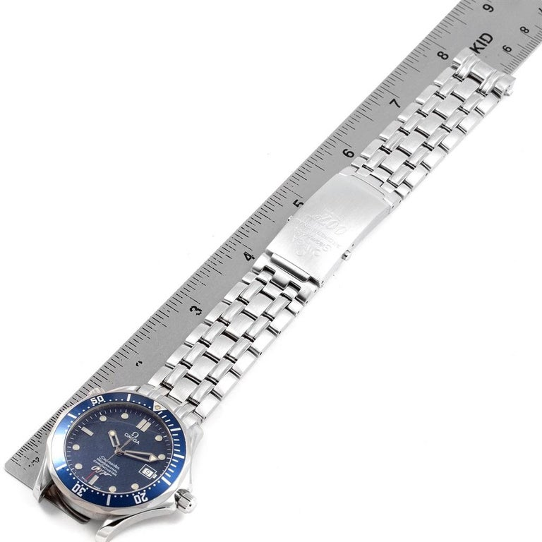 Omega Seamaster 40 Years James Bond Blue Dial Watch 2537.80.00 For Sale 6