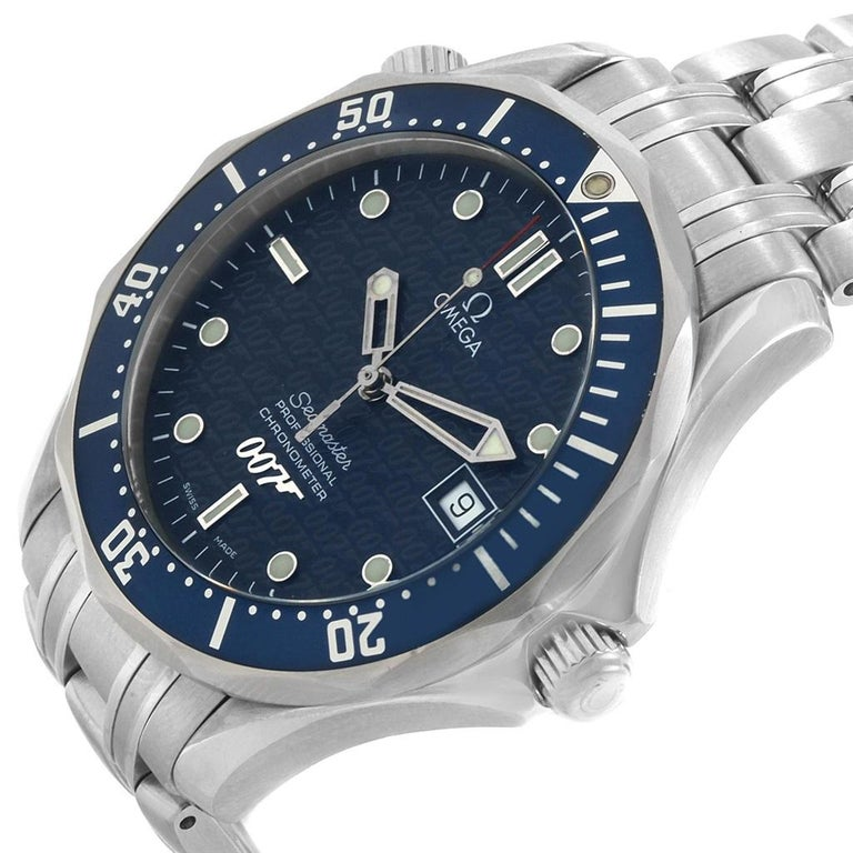 Omega Seamaster 40 Years James Bond Blue Dial Watch 2537.80.00 For Sale 1