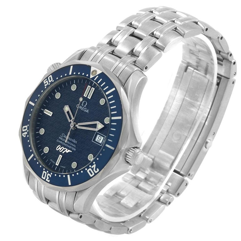 Omega Seamaster 40 Years James Bond Blue Dial Watch 2537.80.00 For Sale 5