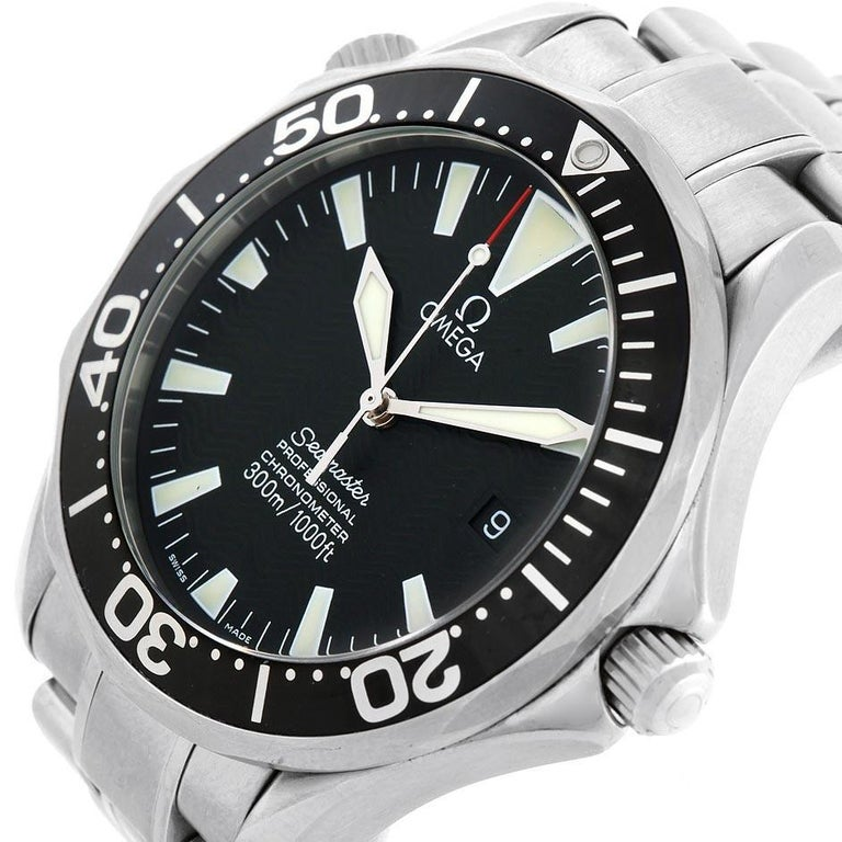 Omega Seamaster 41 300M Black Dial Steel Men's Watch 2254.50.00 Box For Sale 1