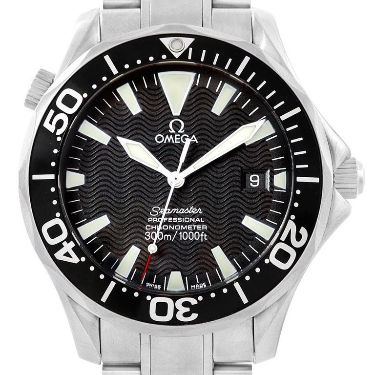 Omega Seamaster 41 300M Black Dial Steel Men's Watch 2254.50.00 Box For Sale 3