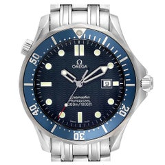 Omega Seamaster 41 Bond Blue Wave Dial Steel Men's Watch 2541.80.00