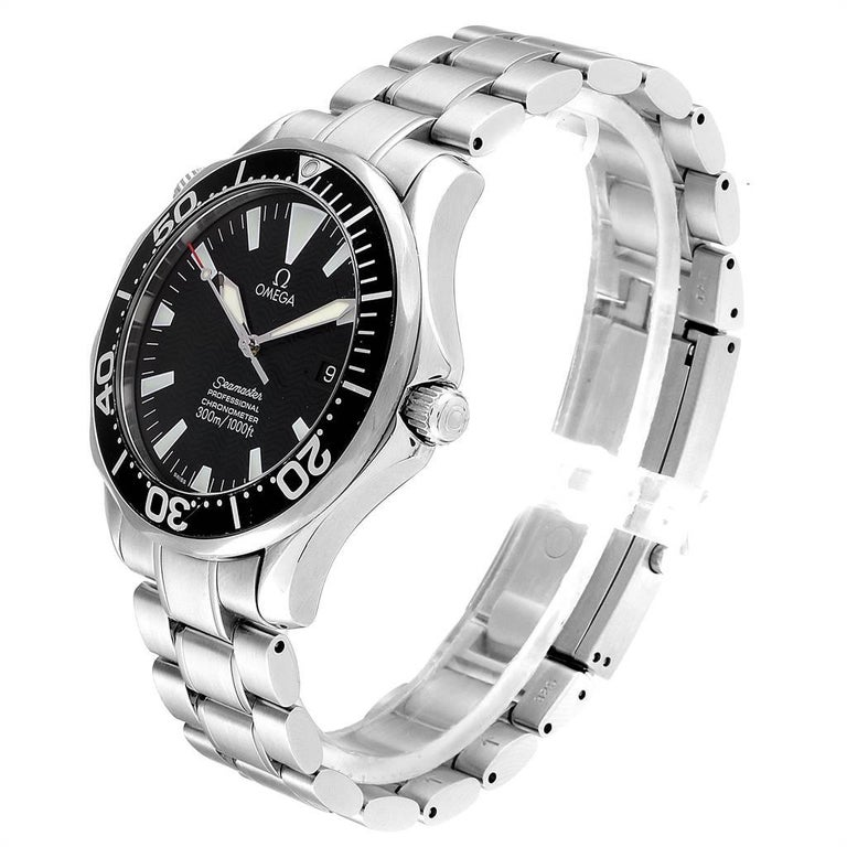 Omega Seamaster Black Wave Dial Steel Men's Watch 2254.50.00 1