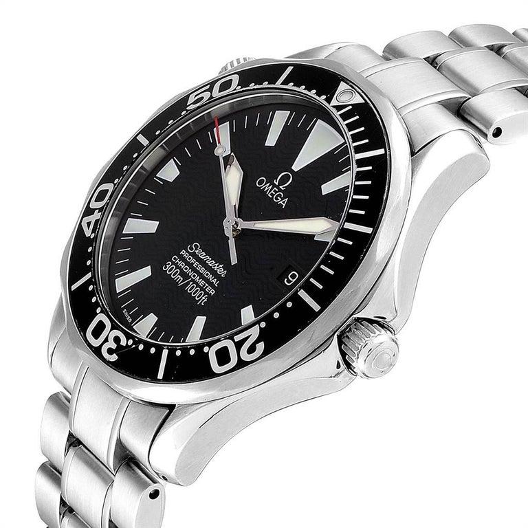 Omega Seamaster Black Wave Dial Steel Men's Watch 2254.50.00 2