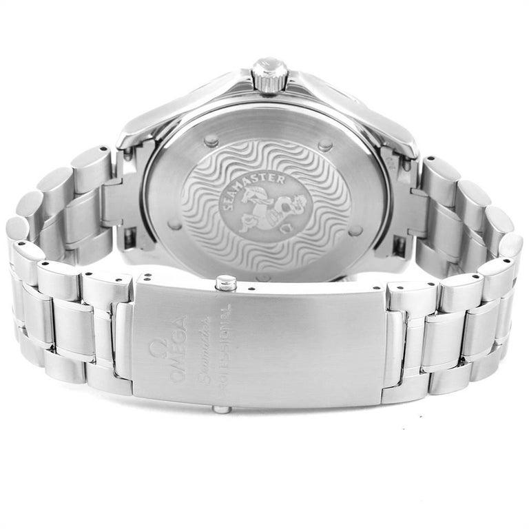 Omega Seamaster Black Wave Dial Steel Men's Watch 2254.50.00 4