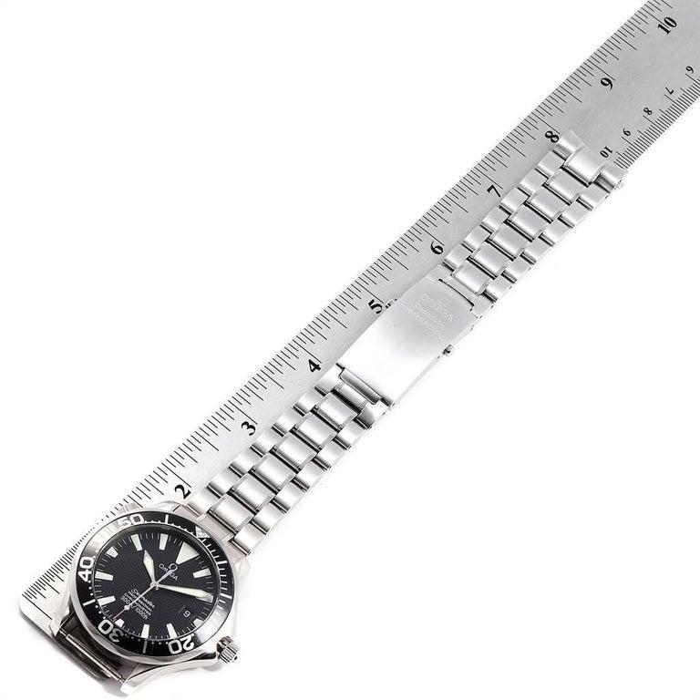 Omega Seamaster Black Wave Dial Steel Men's Watch 2254.50.00 5